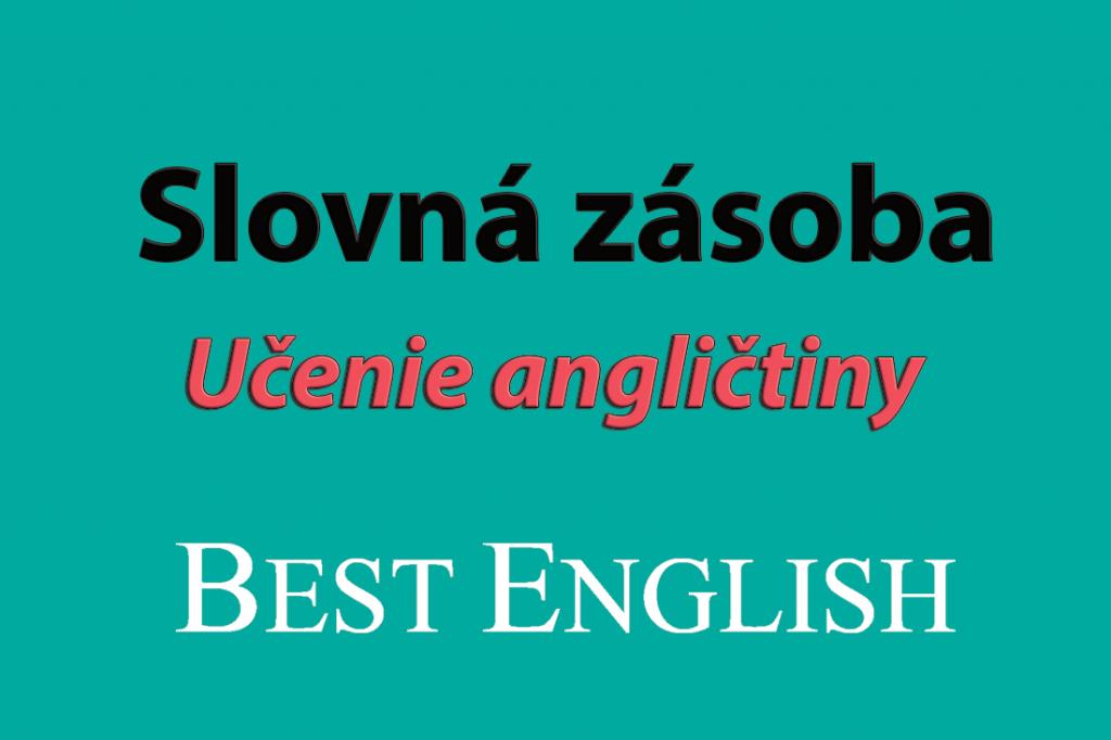 slovná zásoba učenie angličtiny