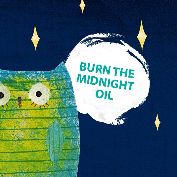 ponocovať burn the midnight oil fráza týždňa jazyková škola Best English Bratislava